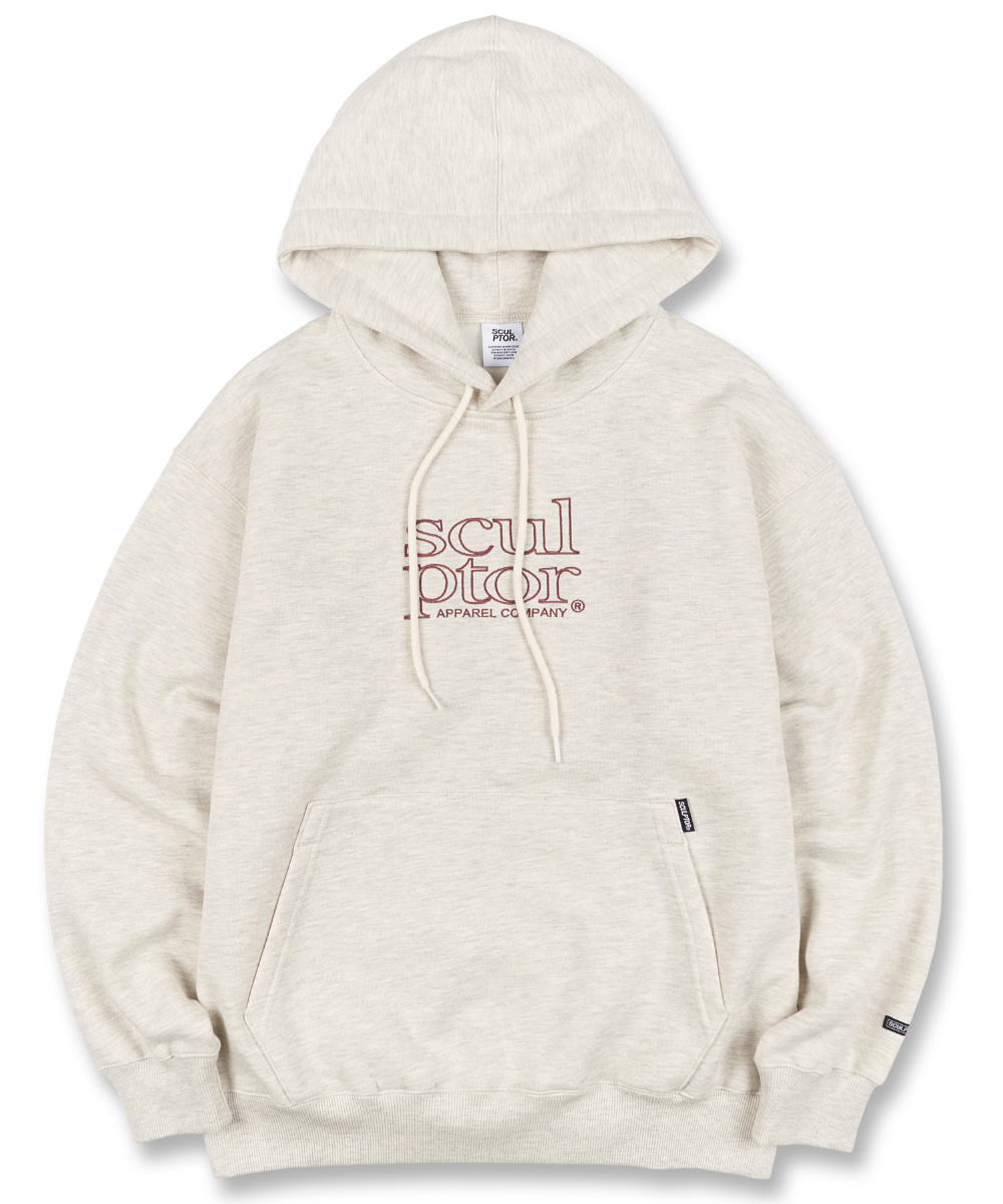 SCULPTOR스컬프터 Retro Outline Hoodie [OATMEAL] 20FW