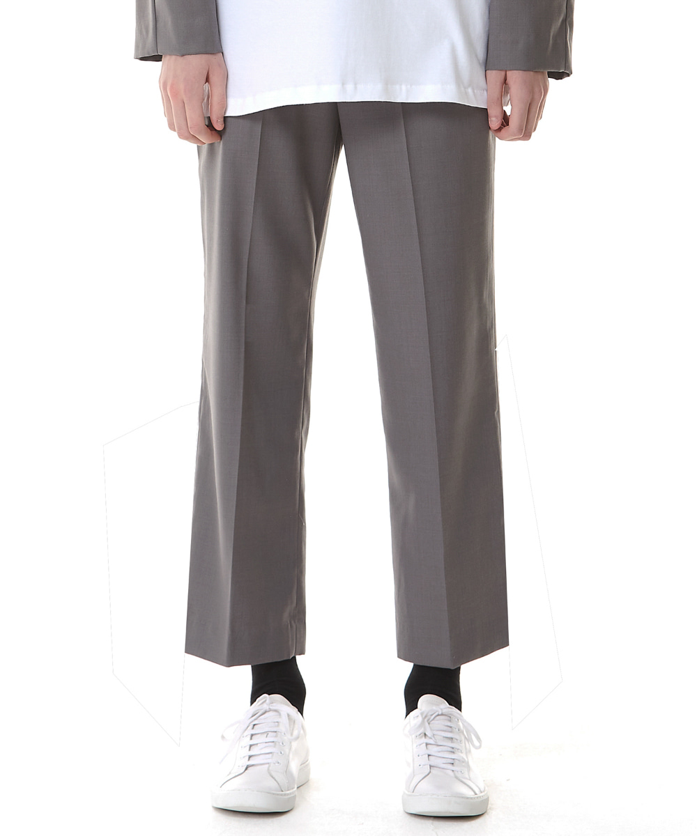 Millin밀린 (9월 24일 예약배송) Cropped Straight Trousers(Gray)