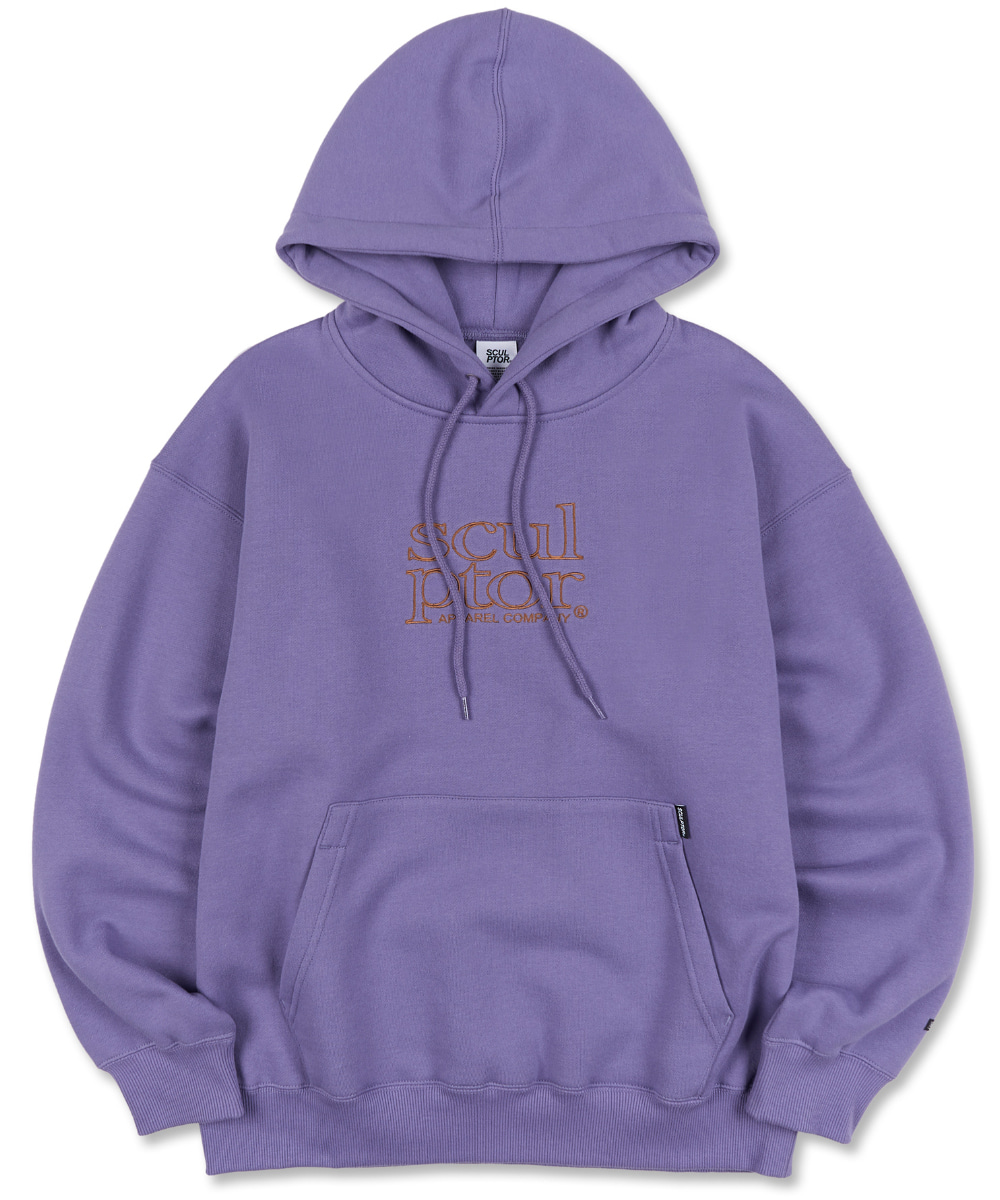 SCULPTOR스컬프터 Retro Outline Hoodie [GRAPE] 20FW