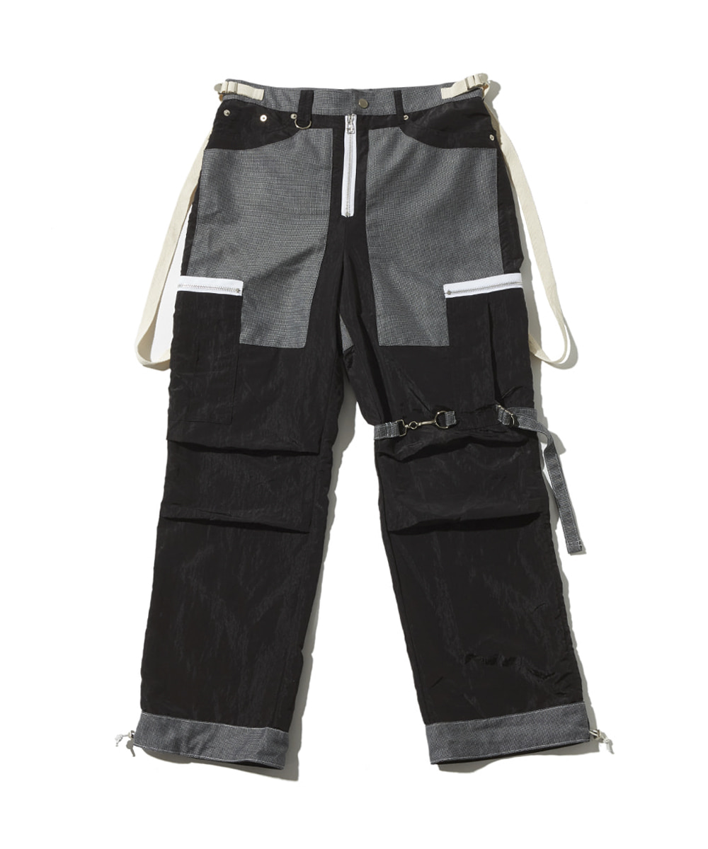 JOEGUSH조거쉬 Tactical cargo pants (Black)