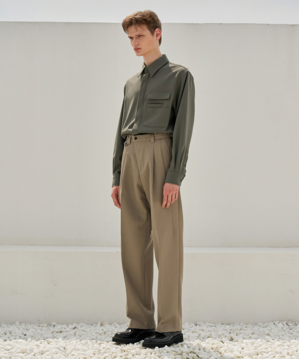 STU에스티유 Three Pocket Shirt Khaki