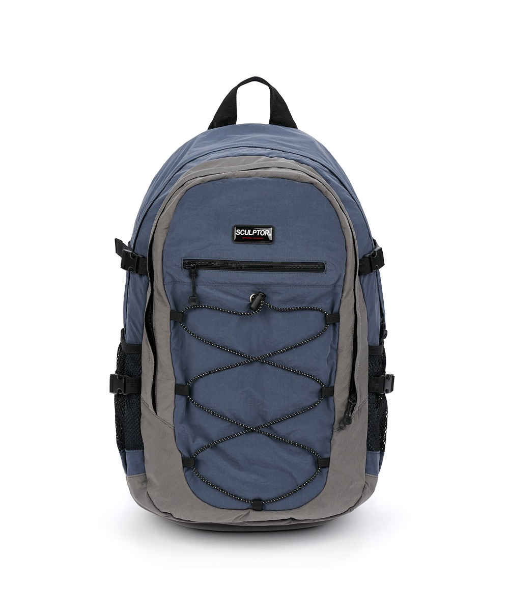 SCULPTOR스컬프터 [10/30 발송예정] Nylon String Rucksack [BLUE/GRAY]
