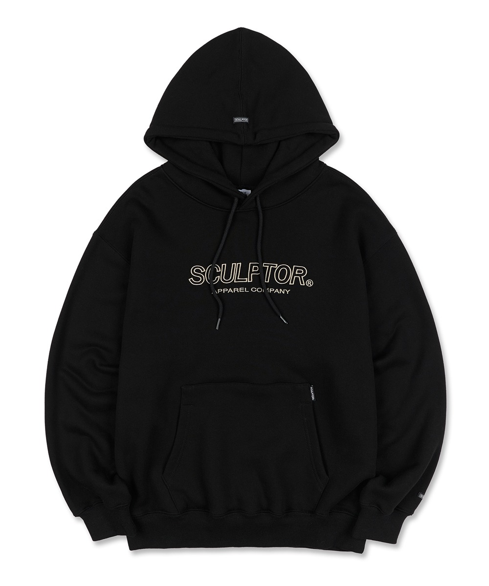 SCULPTOR스컬프터 3D Embroidery Logo Hoodie [BLACK]