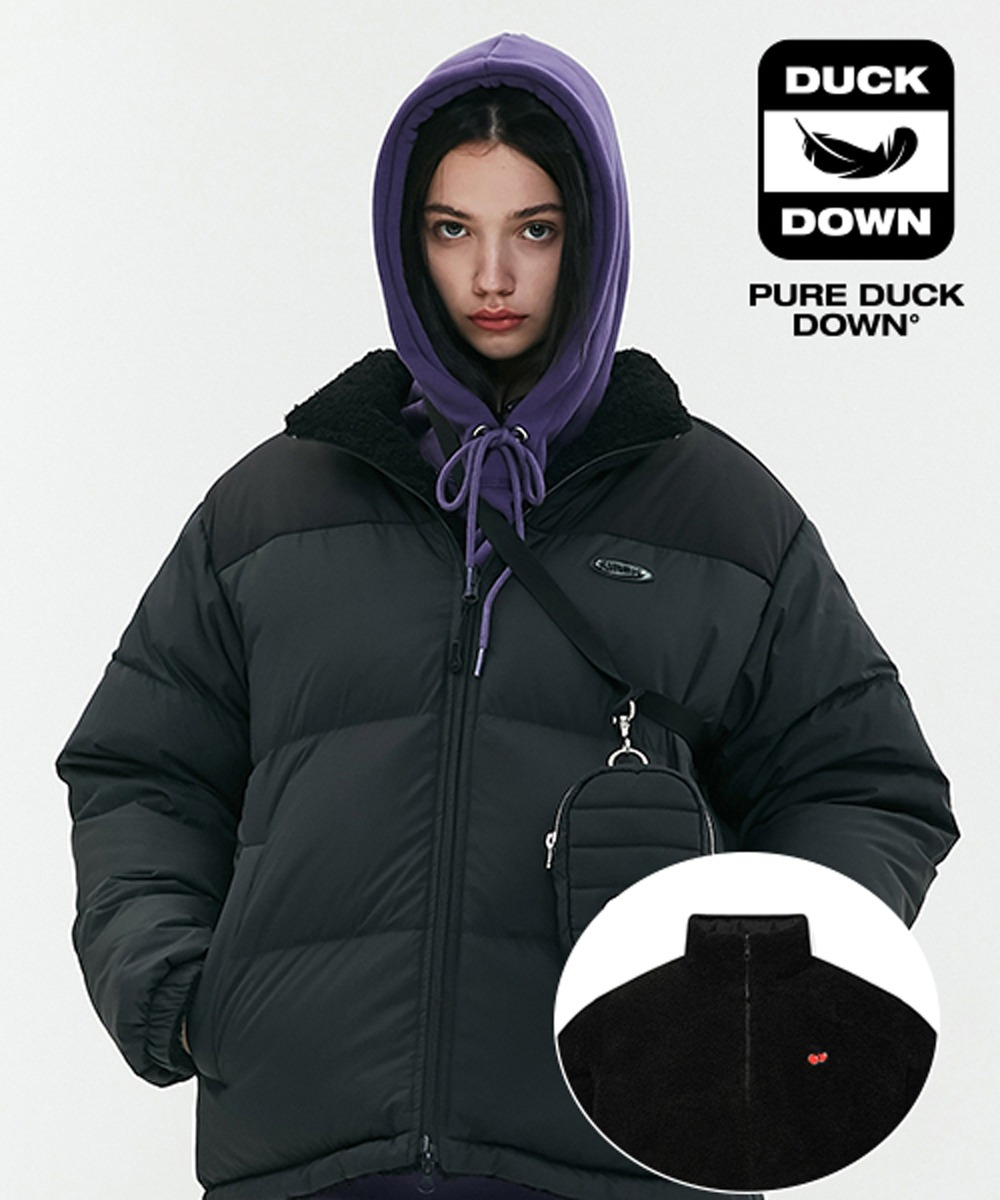 KIRSH키르시 REVERSIBLE FLEECE NUPTSE PADDING JA [BLACK]