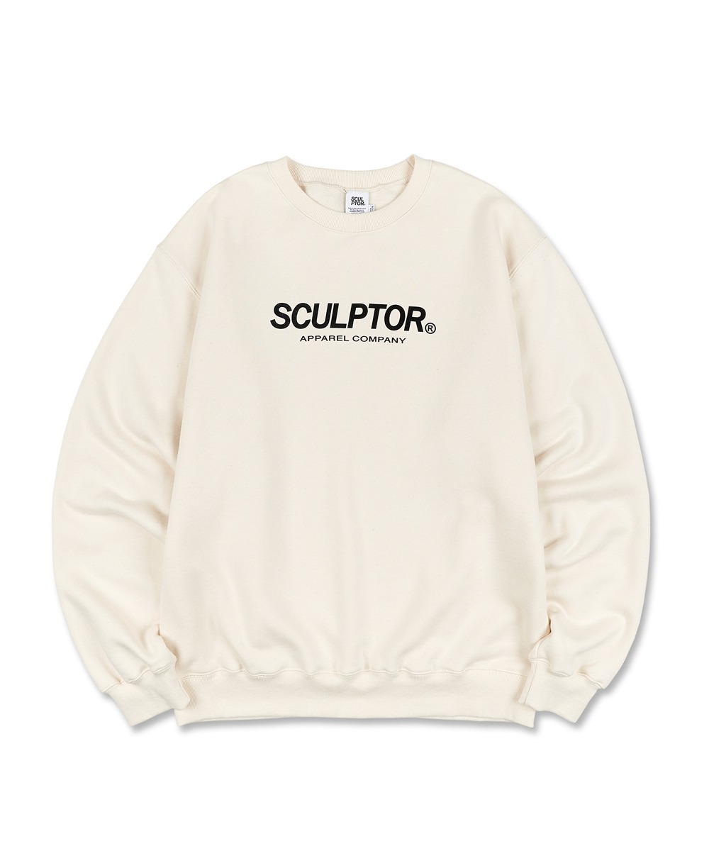 SCULPTOR스컬프터 Flocking Logo Sweatshirt [IVORY]