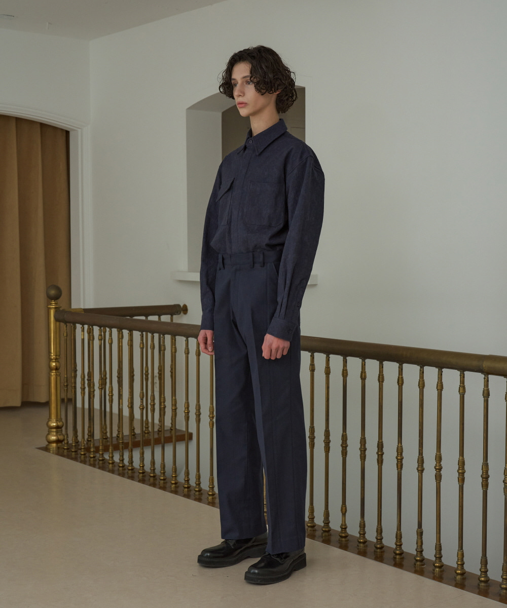 STU에스티유 (LLUD x STU) Loosefit Cotton Pants Navy