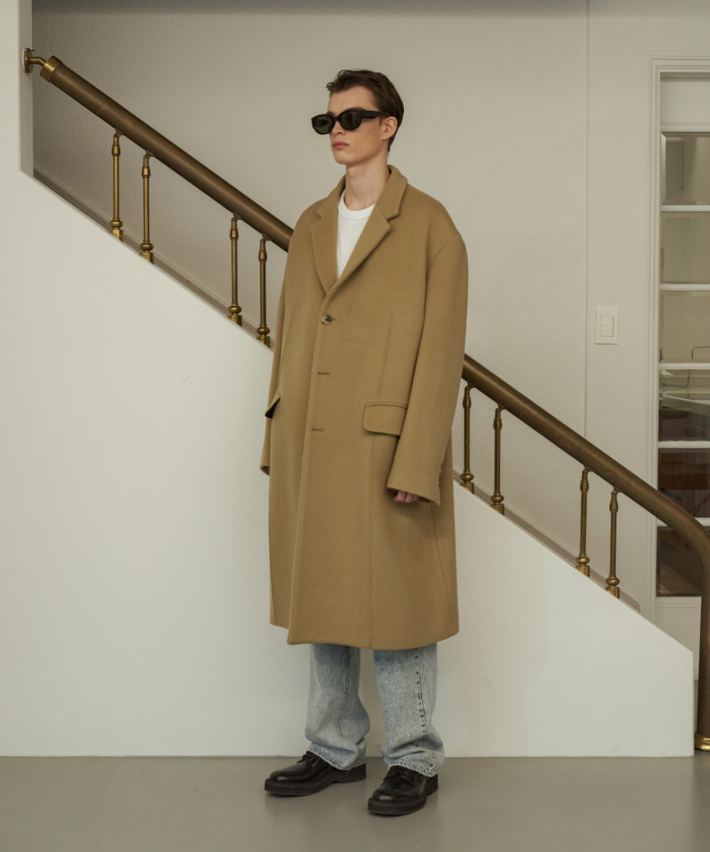 STU에스티유 3 Button Overfit Pintuck Coat Camel
