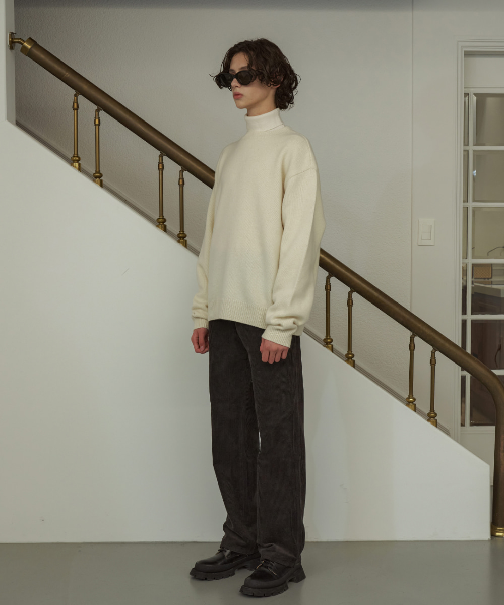 STU에스티유 (LLUD x STU) Corduory Pants Charcoal Brown