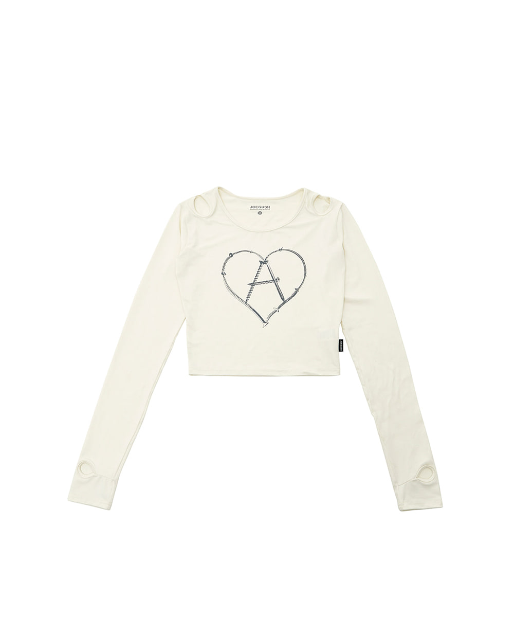 JOEGUSH조거쉬 Women's Heart-A Long sleeves (Ivory)