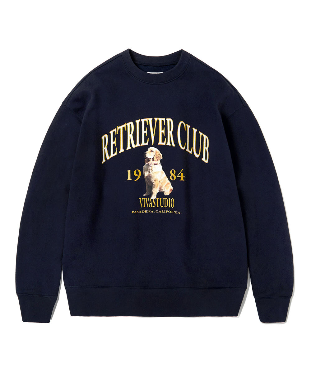 VIVASTUDIO비바스튜디오 RETRIEVER CREWNECK KS [NAVY]
