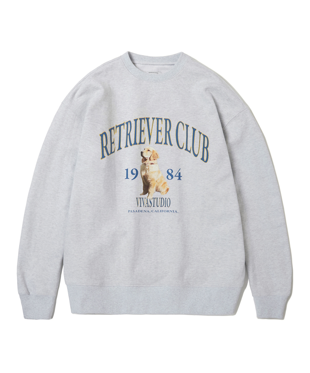 VIVASTUDIO비바스튜디오 RETRIEVER CREWNECK KS [MELANGE GREY]
