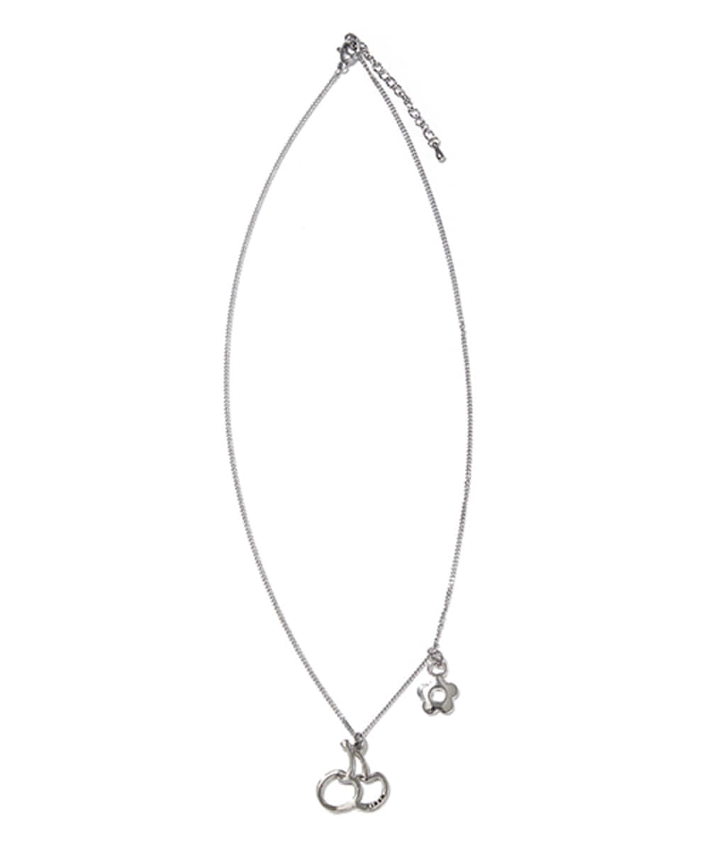 KIRSH키르시 BIG CHERRY PENDANT NECKLACE KS [SILVER]
