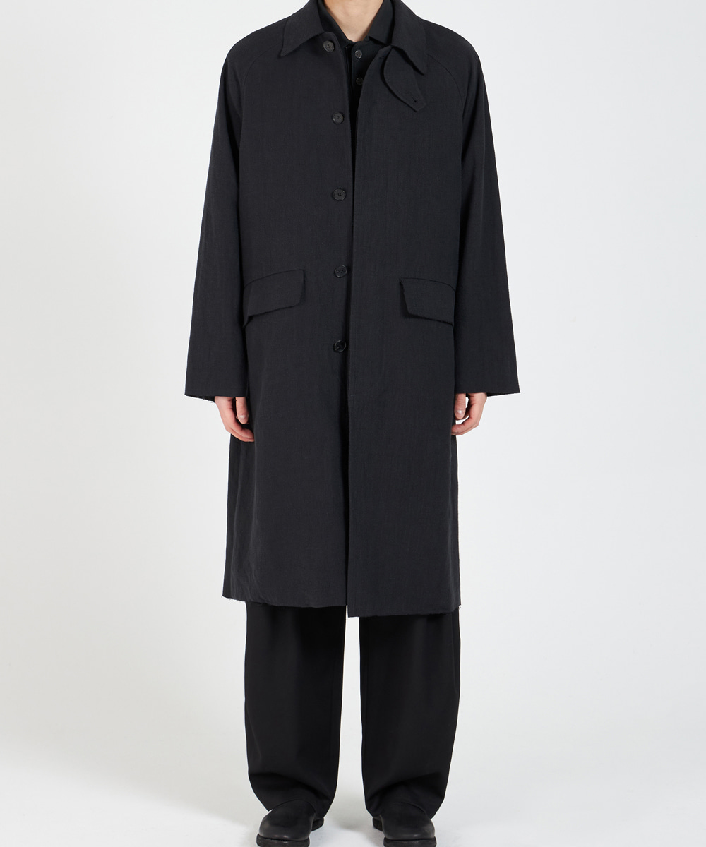 YOUTH유스랩 21SS Mac Coat Black