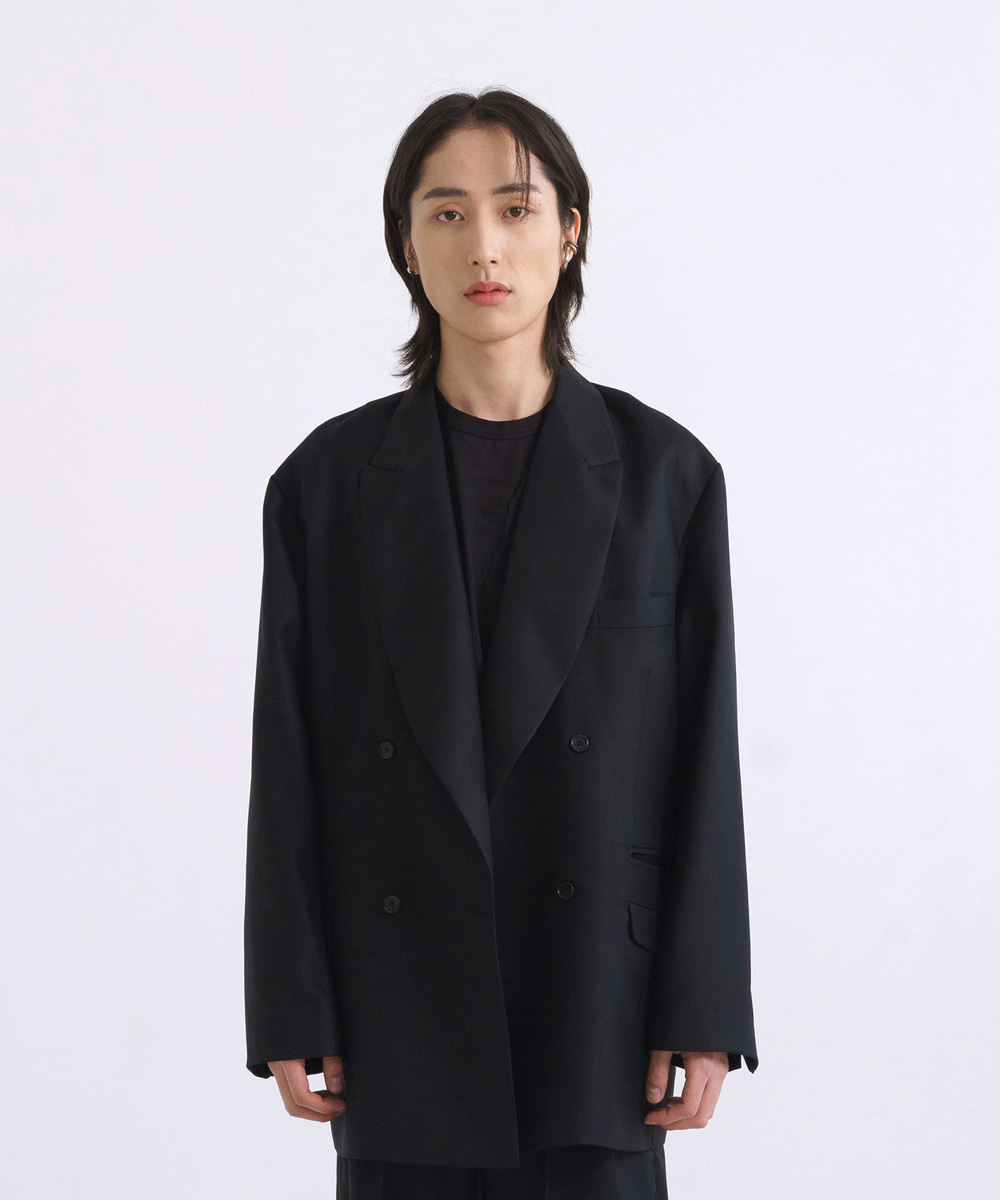 NOUN노운 double breasted wool blazer [2월16일 예약배송]