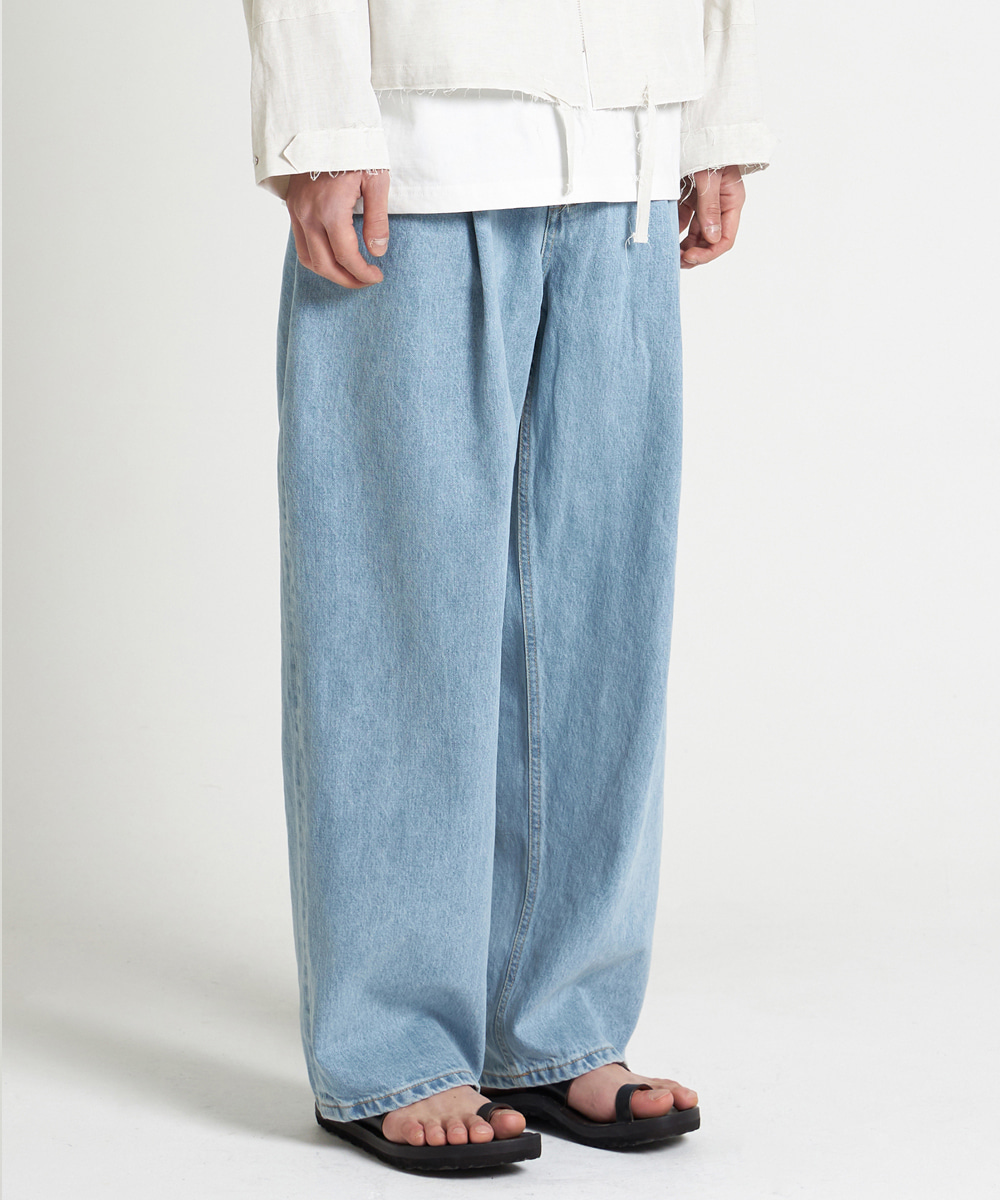 YOUTH유스랩 21SS Structured Wide Denim Pants Light Blue