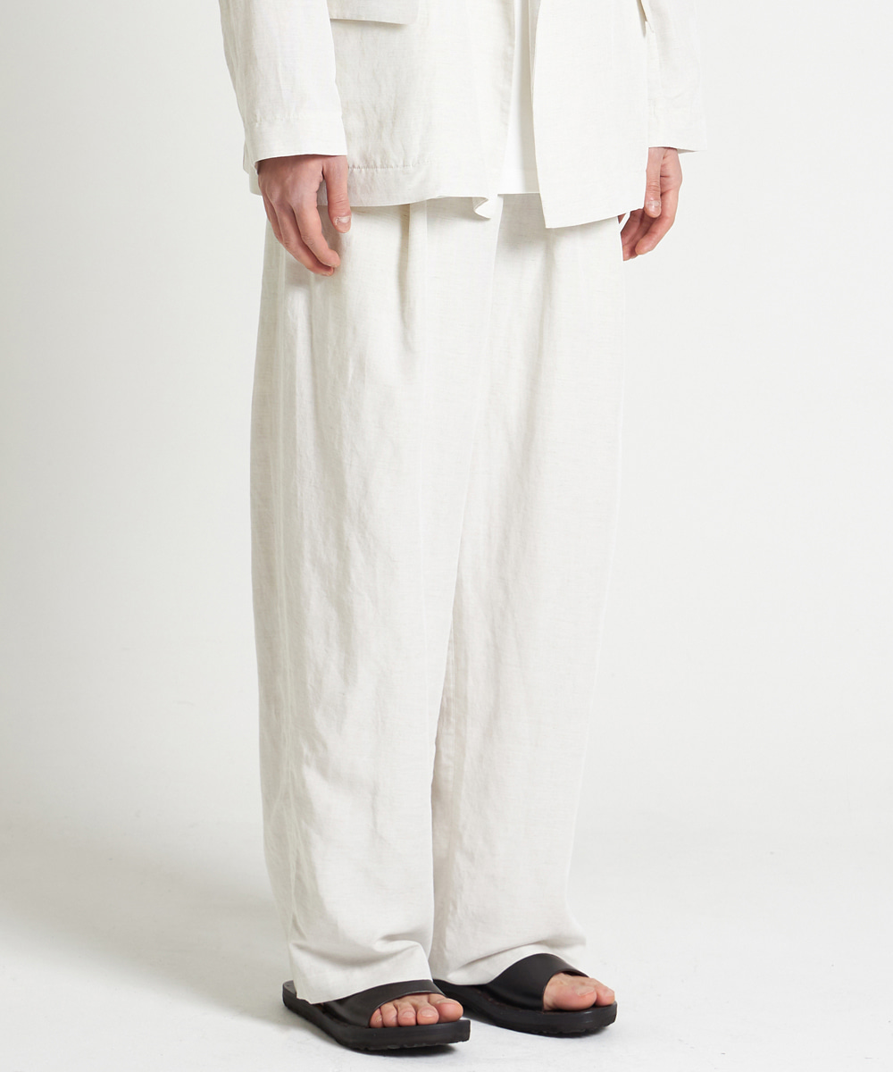 YOUTH유스랩 21SS Structured Wide Pants Ivory