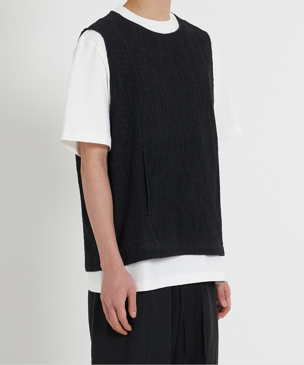 YOUTH유스랩 Crinkle Vest Black