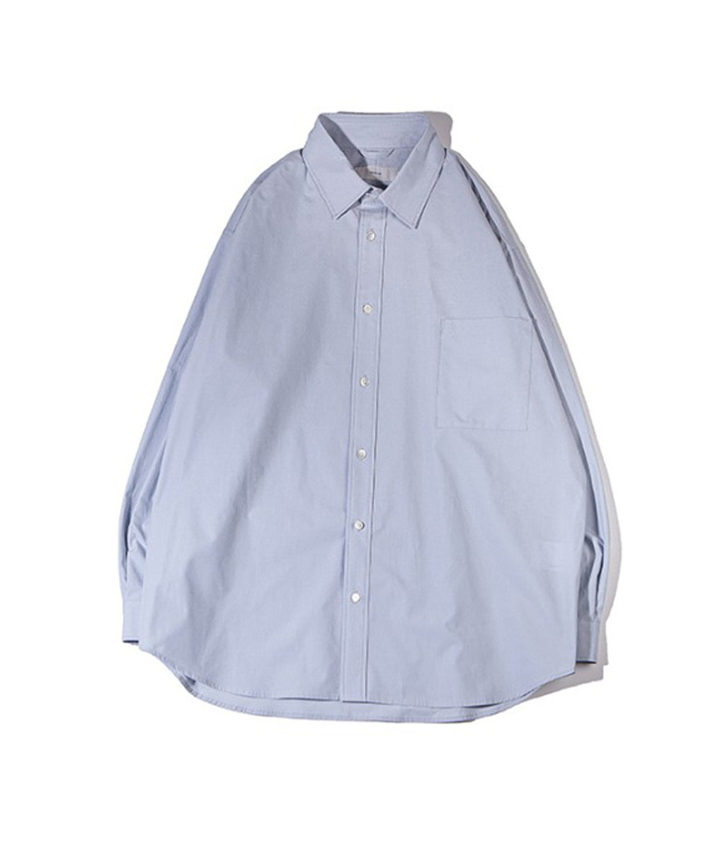 OURSELVES아워셀브스 TYPEWRITER COTTON RELAXED SHIRTS (blue grey)