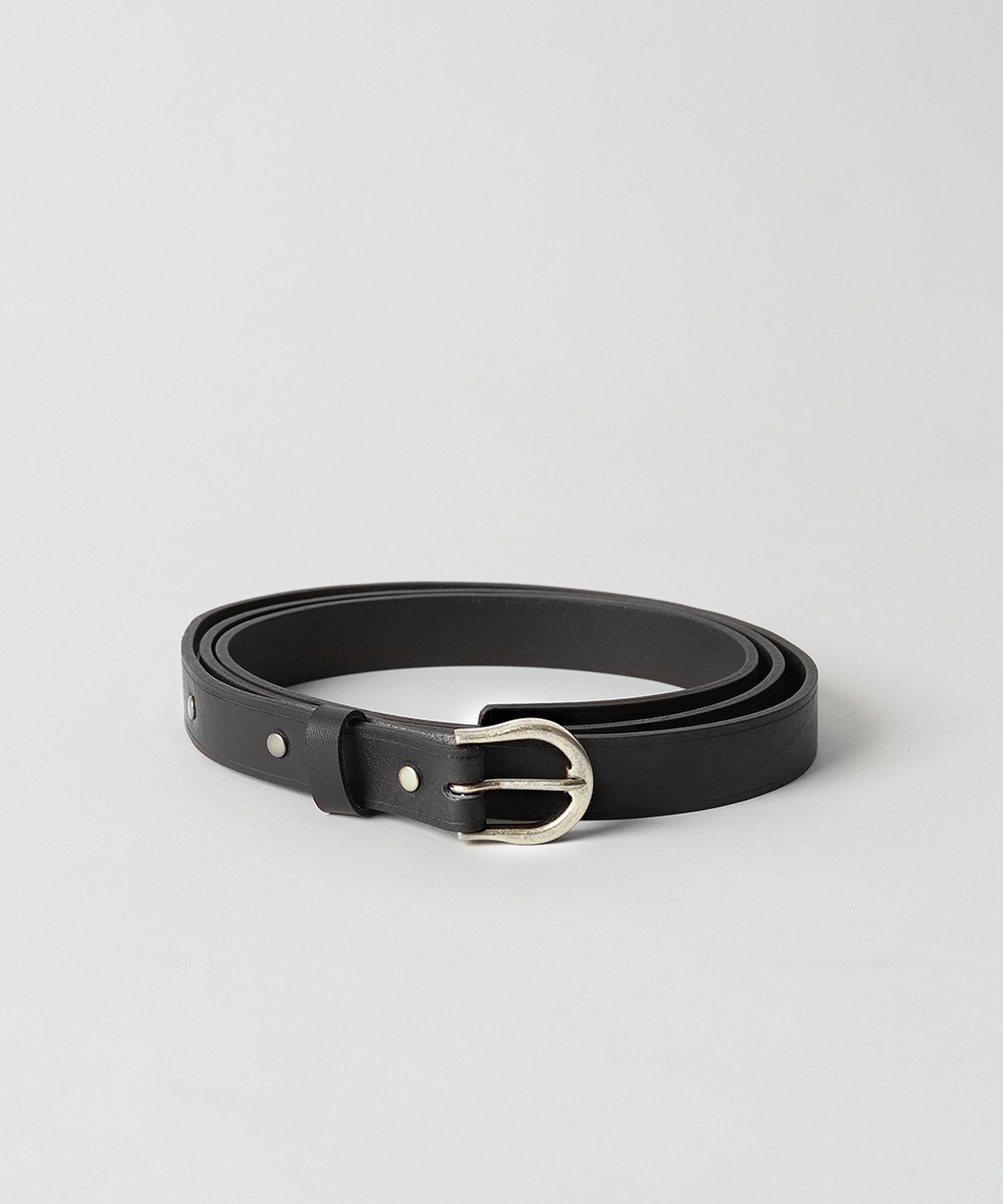 YOUTH유스랩 Long Leather Belt Black