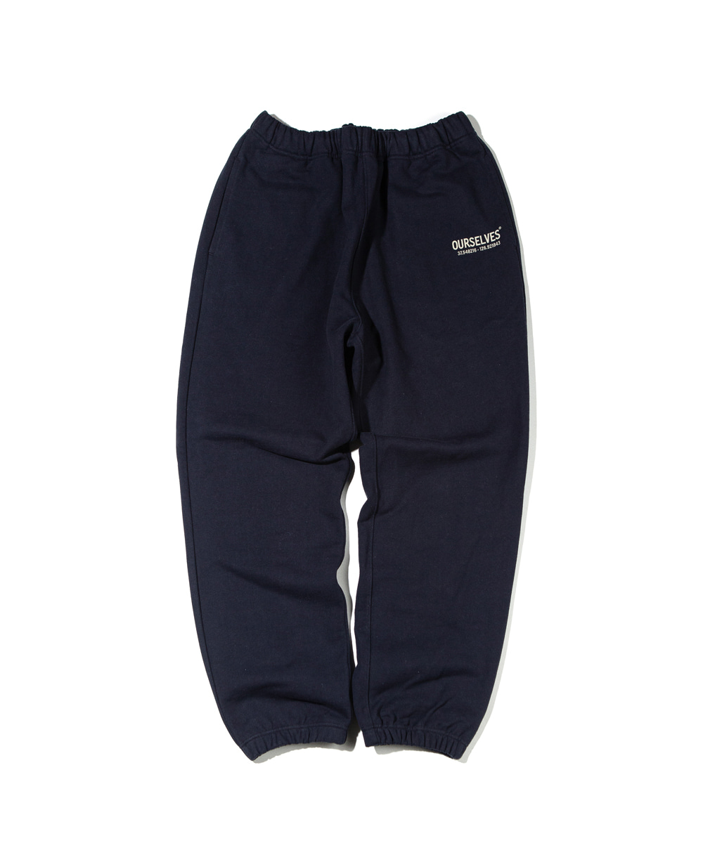 OURSELVES아워셀브스 LOGO PLAY SWEAT PANTS (navy/black)