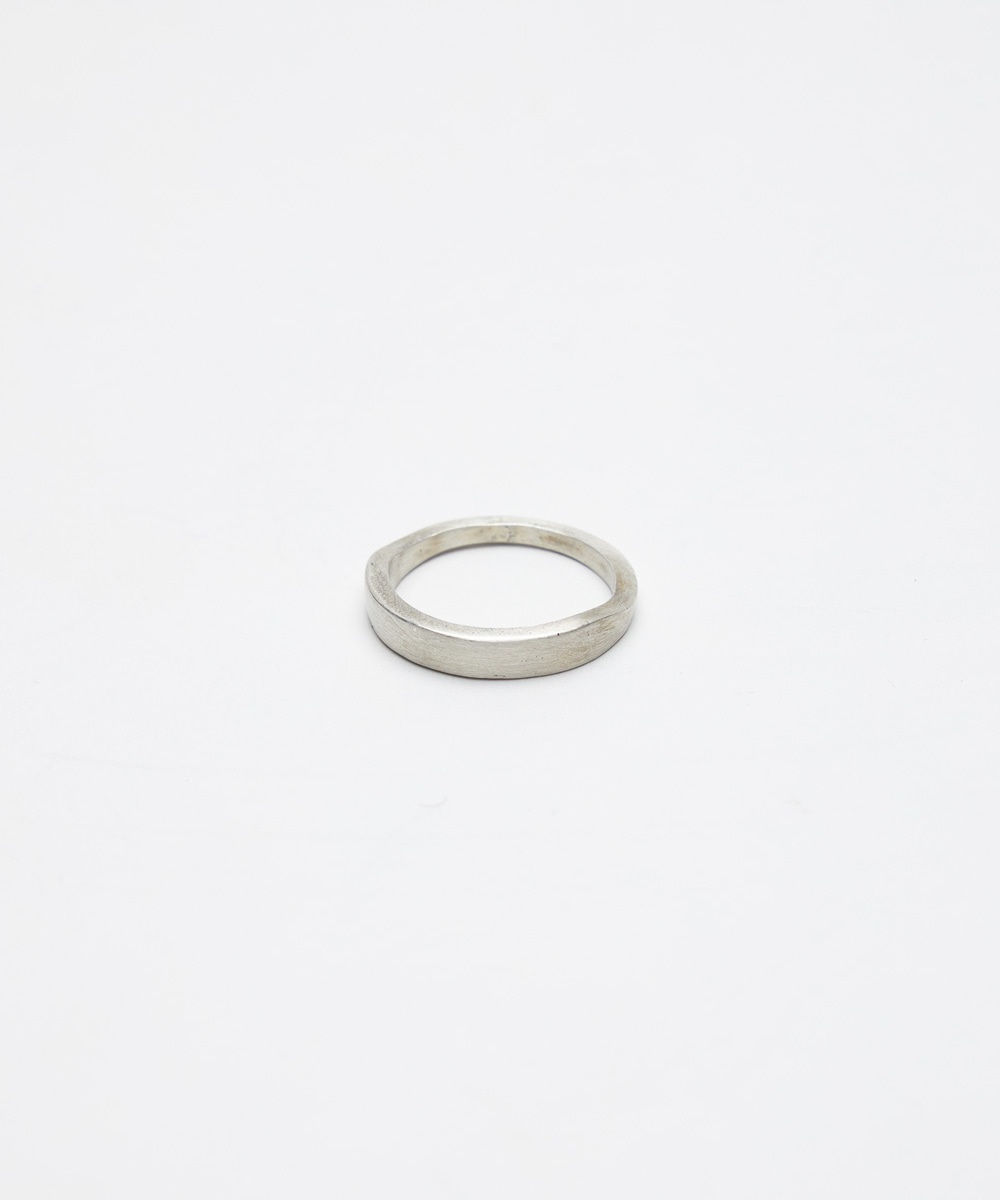 YOUTH유스랩 Round Curved Ring Silver